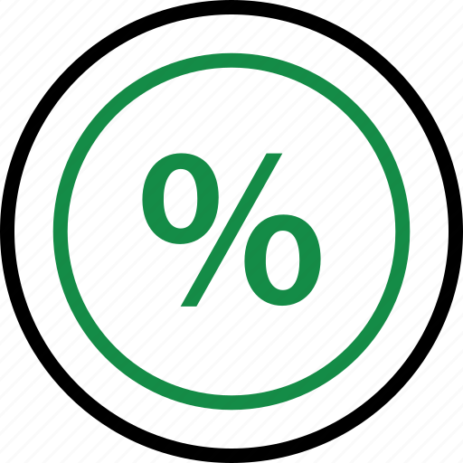 business, interest, online, rate icon