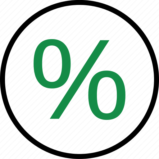 business, percent, rate icon