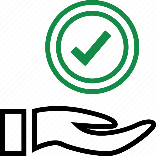 apporved, business, check, mark icon