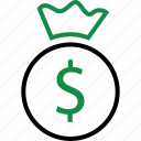 dollar, online, sign icon