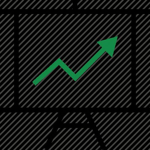 arrow, graph, report icon