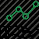 analayze, data, graph, hand icon