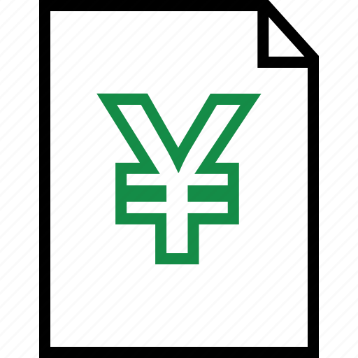 investment, page, yen icon