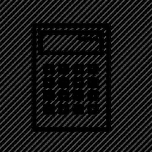 calculating, calculator, electronic, electronic calculator icon