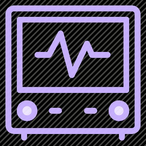 health, hospital, maedical, monitoricon icon