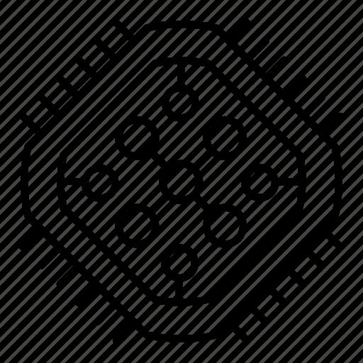 circuit, core, electronics, processor, technology icon