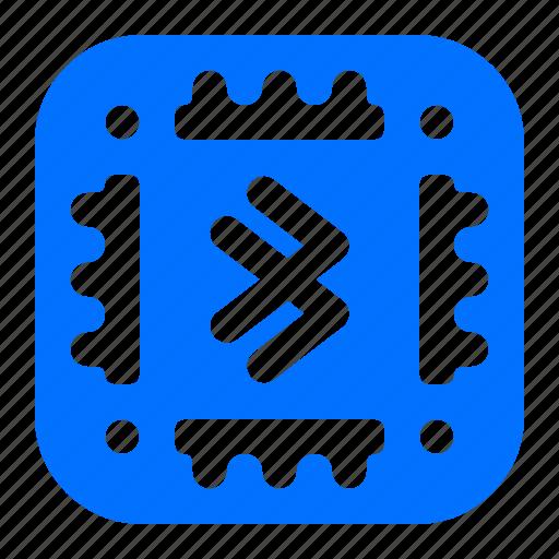 bluetooth, chip, memory, microchip icon