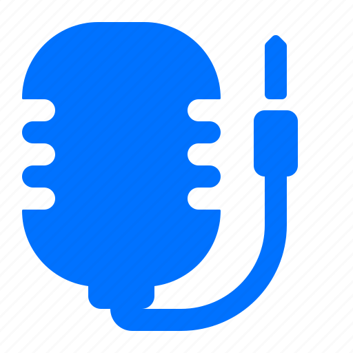 connector, mic, microphone icon