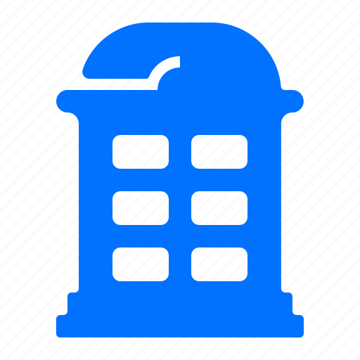 call, communication, phone, phonebooth icon