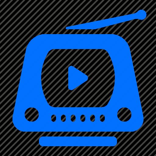 electronic, retro, television, tv icon