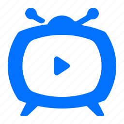 electronic, rounded, television, tv icon
