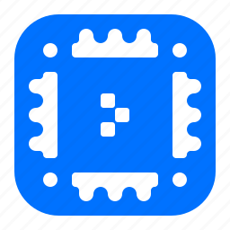 chip, memory, microchip, share icon