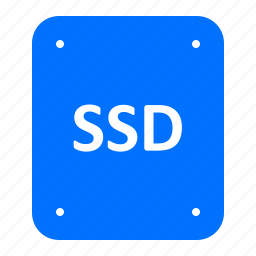 card, chip, memory, ssd icon