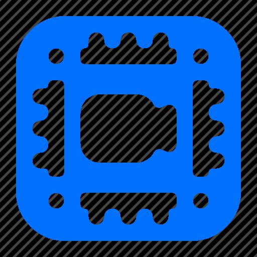 camera, chip, microchip, video icon