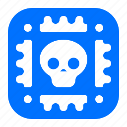 deadly, lethal, microchip, virus icon