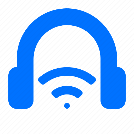audio, headphones, headset, wireless icon