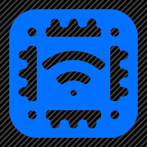 chip, memory, microchip, wireless icon