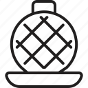 appliance, chef, cook, cooking, iron, roti maker, waffle icon