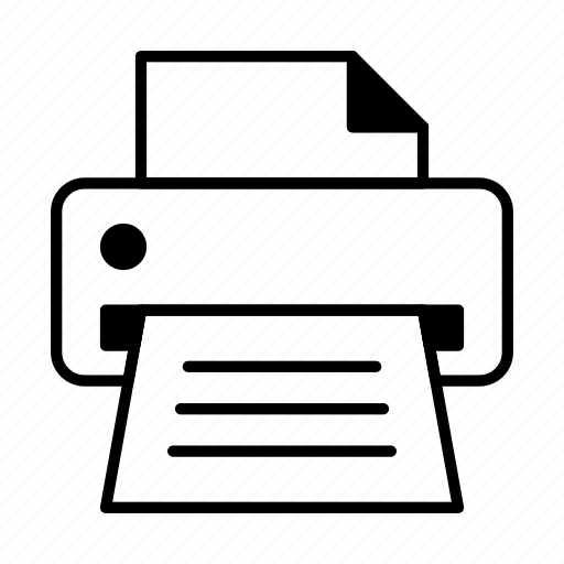 device, fax, hardware, print, printer icon