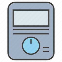 device, electricity, electronic, meter, multimeter, volt meter icon