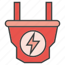 electricity, electronic, plug icon