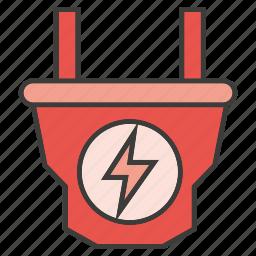 electricity, electronic, plug icon