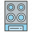 electronic, loudspeaker, sound icon