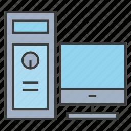 computer, desktop, monitor, pc icon
