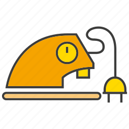 appliance, electronic, household, iron, press clothes icon