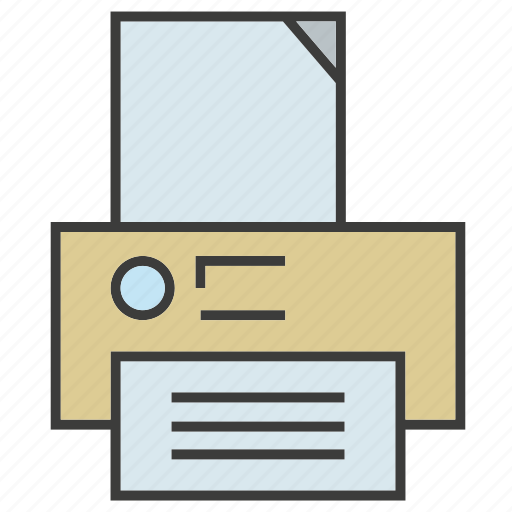 electronic, office, office supply, print, printer icon