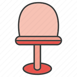 chair, furniture, seat, stool icon