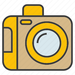 camera, device, electronic, gadget, record icon