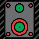 audio, loud, multimedia, music, player, sound, speaker icon