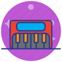 audio, media, multimedia, music, piano keyboard, pianokeyboard, synthesizer icon