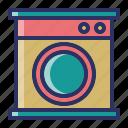 electronics, laundry, wash, washing machine icon