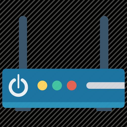 Broadband, internet, modem, router, wireless icon