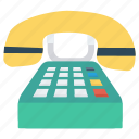 communication, fax, landline, receiver, telephone icon