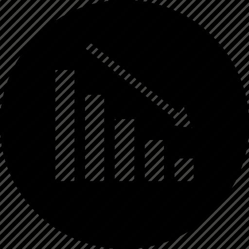 data, down, point icon