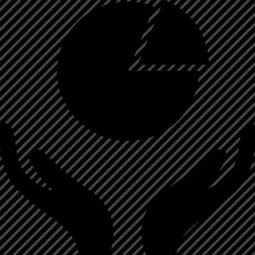data, graphic, hands icon