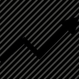 arrow, high, point icon