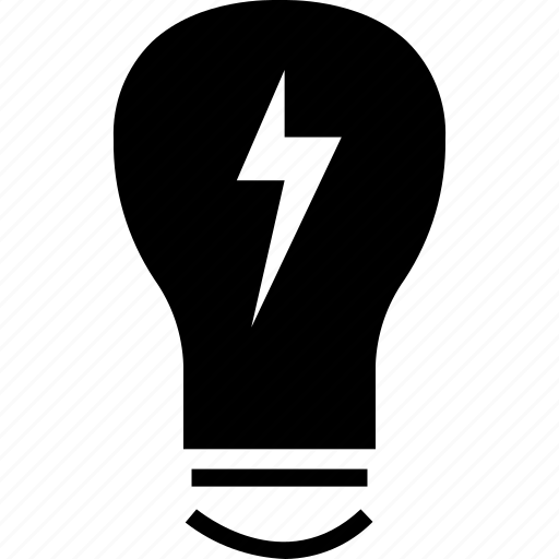 bulb, light, power icon