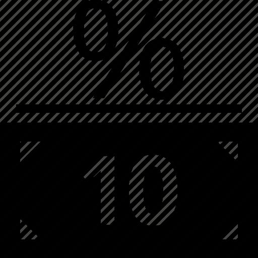 money, percent, rate icon