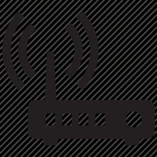router, signal, wifi, wireless icon