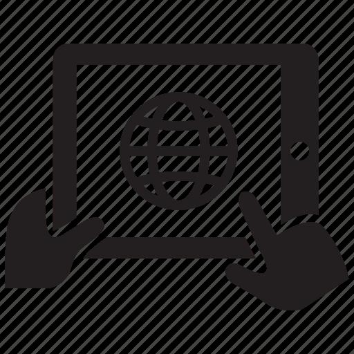 ipad, network, tablet icon