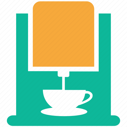 coffee machine, coffeemaker, coffeemaker with cup, electric icon