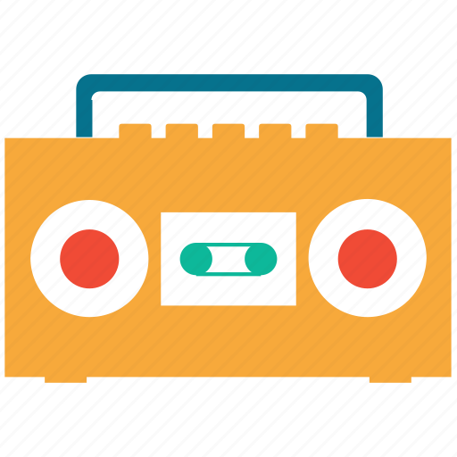 audio, boombox, cassette player, stereo icon