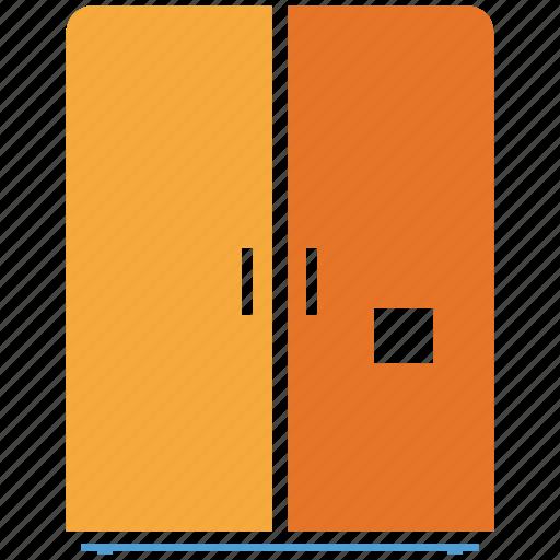 double door fridge, electric, fridge, refrigerator icon