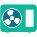 air, electric, fan, ventilation icon