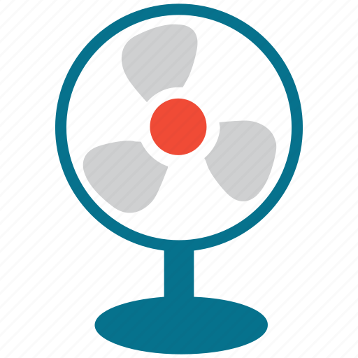 electric fan, fan, mini fan, small fan icon