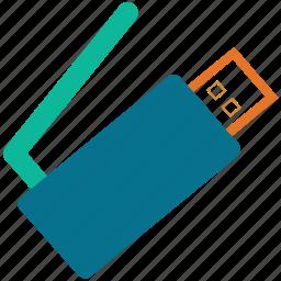 driverless usb, usb wifi, usb with antenna, wifi usb icon